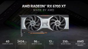 AMD Announces Radeon RX 6700 XT Graphics Card