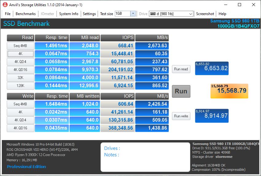 Samsung 980 1TB Gen3 NVMe SSD Review - Storage 23