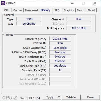 GeIL ORION RGB 4400 GPUZ Screen