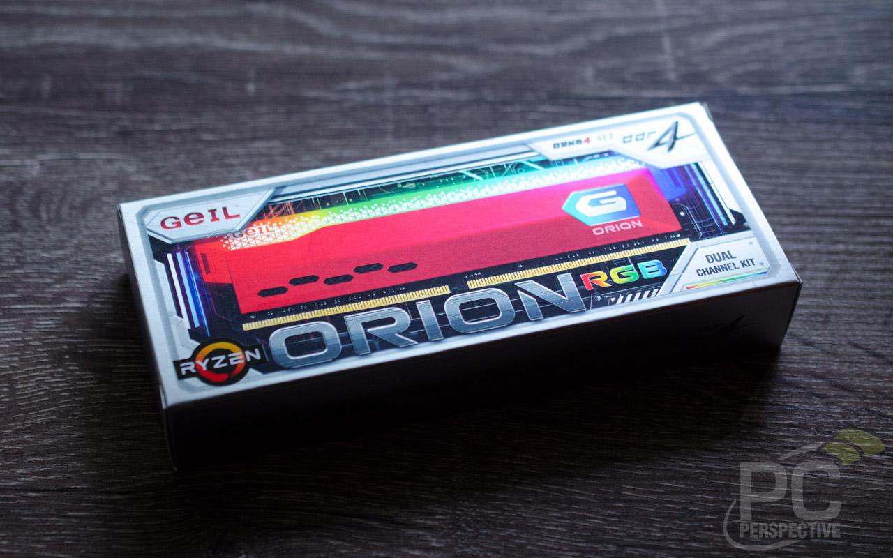GeIL ORION RGB DDR4 4400 RAM Package