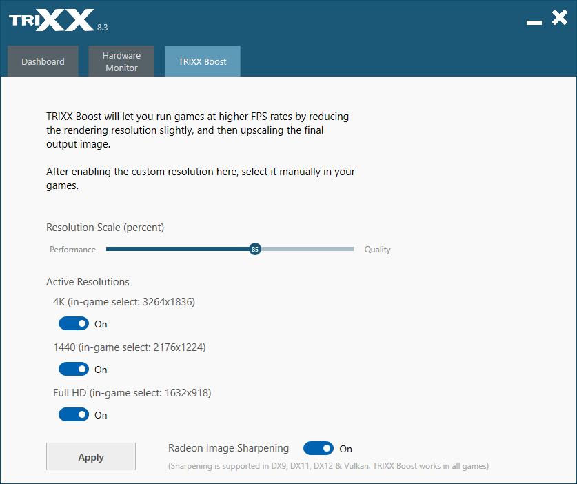 SAPPHIRE TRIXX Screenshot